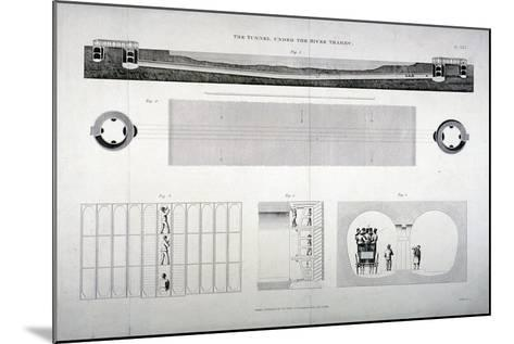 Plan, Sections and Elevations of the Thames Tunnel, London, 1835-E Turrell-Mounted Giclee Print