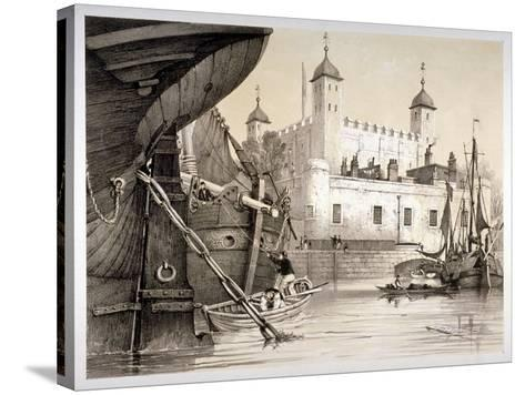 Tower of London, C1840-Edmund Patten-Stretched Canvas Print