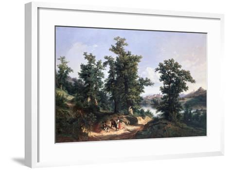 Entrance to the Forest of Saverne, 1838-Edouard Jean Marie Hostein-Framed Art Print
