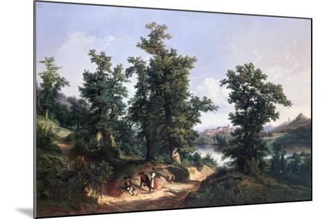 Entrance to the Forest of Saverne, 1838-Edouard Jean Marie Hostein-Mounted Giclee Print