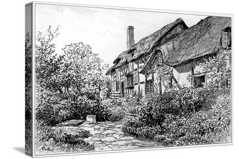 Anne Hathaway's Cottage at Shottery, Stratford-Upon-Avon, Warwickshire, 1885-Edward Hull-Stretched Canvas Print
