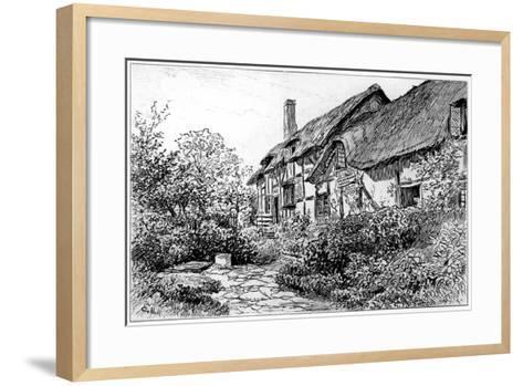 Anne Hathaway's Cottage at Shottery, Stratford-Upon-Avon, Warwickshire, 1885-Edward Hull-Framed Art Print