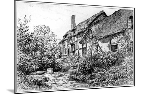 Anne Hathaway's Cottage at Shottery, Stratford-Upon-Avon, Warwickshire, 1885-Edward Hull-Mounted Giclee Print