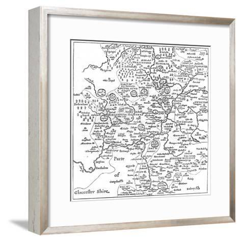 A Map of Stratford-Upon-Avon and its Surrounding Areas, 1610-Edward Hull-Framed Art Print