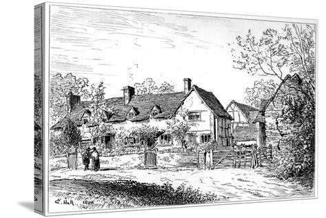 Mary Arden's Cottage at Wilmcote, Warwickshire, 1885-Edward Hull-Stretched Canvas Print
