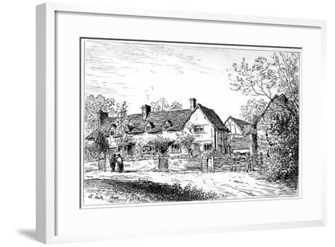 Mary Arden's Cottage at Wilmcote, Warwickshire, 1885-Edward Hull-Framed Art Print