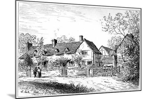 Mary Arden's Cottage at Wilmcote, Warwickshire, 1885-Edward Hull-Mounted Giclee Print