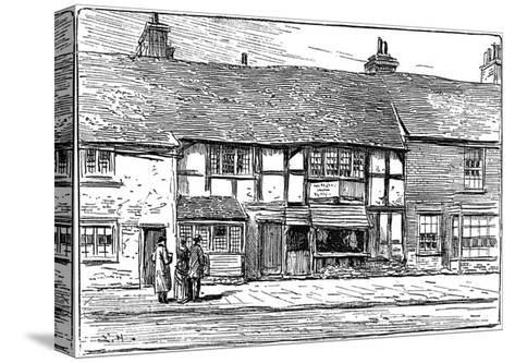 Shakespeare's Birthplace before Restoration, Stratford-Upon-Avon, Warwickshire, 1885-Edward Hull-Stretched Canvas Print