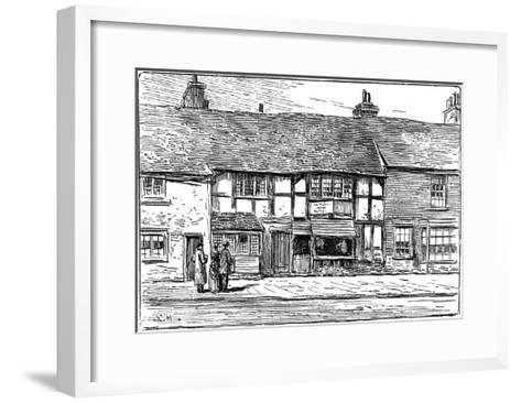 Shakespeare's Birthplace before Restoration, Stratford-Upon-Avon, Warwickshire, 1885-Edward Hull-Framed Art Print
