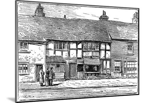 Shakespeare's Birthplace before Restoration, Stratford-Upon-Avon, Warwickshire, 1885-Edward Hull-Mounted Giclee Print
