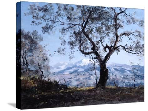 The Area around Menton, Close to Roquebrune, 1892-Emmanuel Lansyer-Stretched Canvas Print