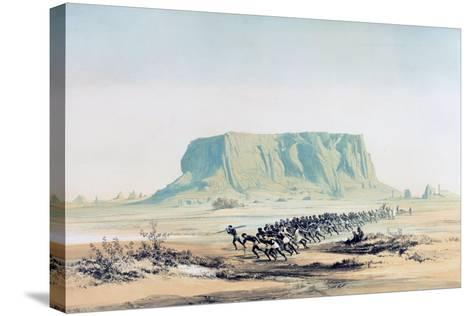 View of Mount Barkal, Sudan, 1842-1845-E Weidenbach-Stretched Canvas Print