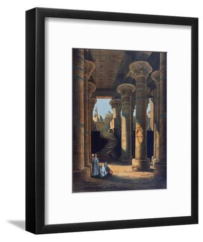 The Temple of Esneh, 19th Century-E Weidenbach-Framed Art Print
