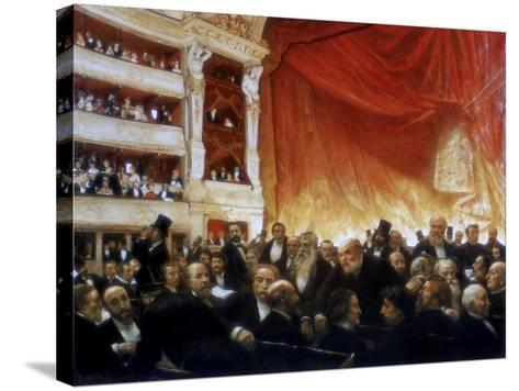 An Interval with the Comedie Francaise, 1886-Edouard Joseph Dantan-Stretched Canvas Print