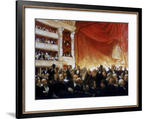 An Interval with the Comedie Francaise, 1886-Edouard Joseph Dantan-Framed Art Print