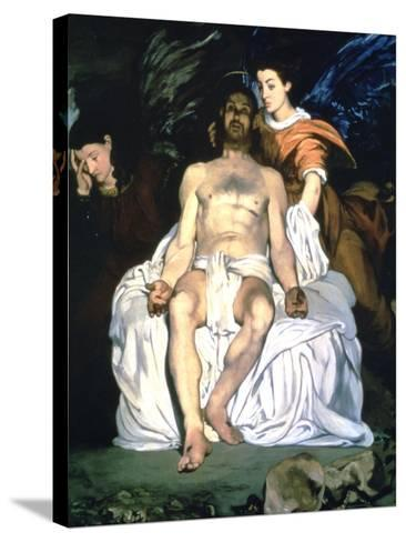 The Dead Christ and the Angels, 1864-Edouard Manet-Stretched Canvas Print