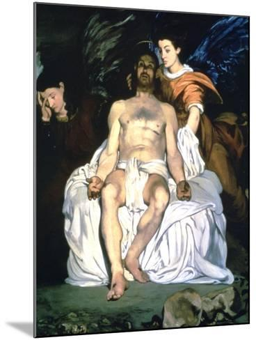 The Dead Christ and the Angels, 1864-Edouard Manet-Mounted Giclee Print