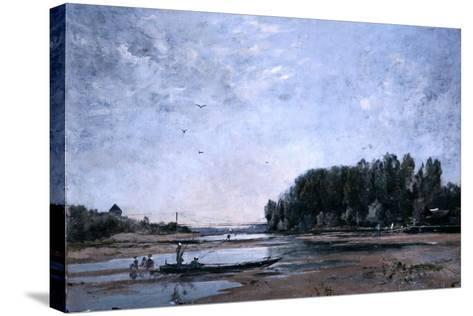 Fishing Boats on the Loire, 1865-Emmanuel Lansyer-Stretched Canvas Print