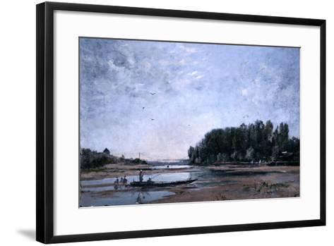 Fishing Boats on the Loire, 1865-Emmanuel Lansyer-Framed Art Print