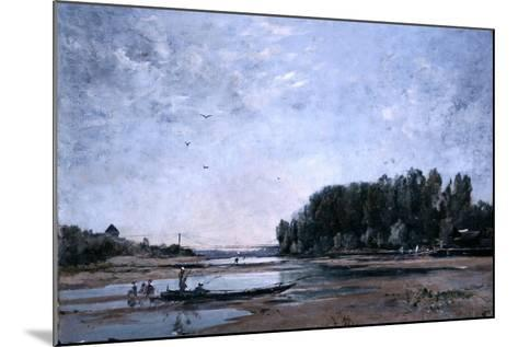 Fishing Boats on the Loire, 1865-Emmanuel Lansyer-Mounted Giclee Print
