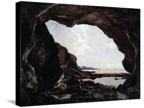 Grotto of Ris, Douarnenez, 1876-Emmanuel Lansyer-Stretched Canvas Print