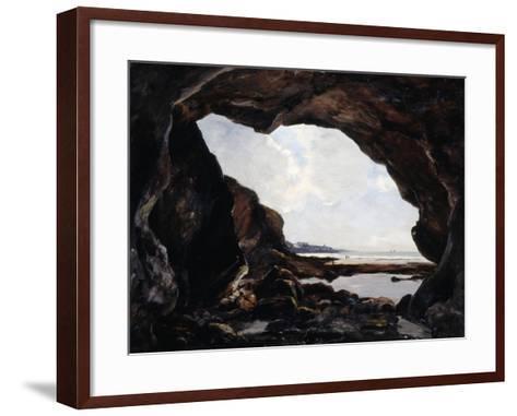 Grotto of Ris, Douarnenez, 1876-Emmanuel Lansyer-Framed Art Print