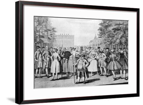 Taste a La Mode in the Year 1735: Being the Contrast to the Year 1745-Evan Davis-Framed Art Print