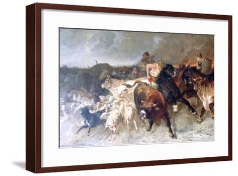 Plunderers, 1867-Evariste Vital Luminais-Framed Art Print