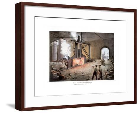 James Nasmyth's Steam Hammer, 1900-E Zimmer-Framed Art Print