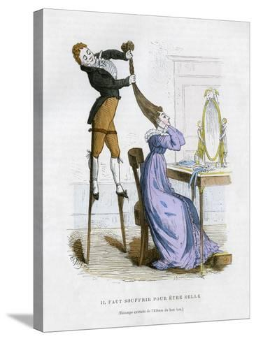 It Is Necessary to Suffer to Be Beautiful, 1882-1884-EA Tilly-Stretched Canvas Print