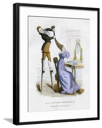 It Is Necessary to Suffer to Be Beautiful, 1882-1884-EA Tilly-Framed Art Print