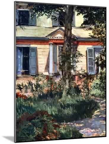 The House at Rueil, 1882-Edouard Manet-Mounted Giclee Print