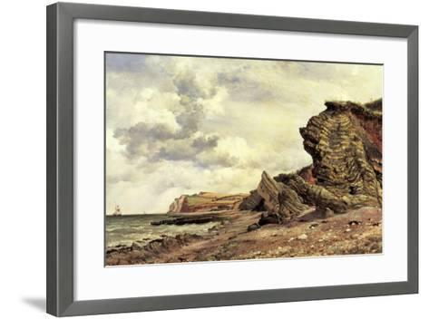 Triassic Cliffs, Blue Anchor, North Somerset, 1866-Edward William Cooke-Framed Art Print