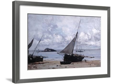 Beached Boats at St Jean, 1884-Emmanuel Lansyer-Framed Art Print
