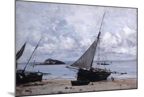 Beached Boats at St Jean, 1884-Emmanuel Lansyer-Mounted Giclee Print