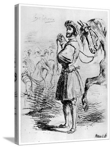 Cavalier Francais, C1820-1860-Eugene Delacroix-Stretched Canvas Print
