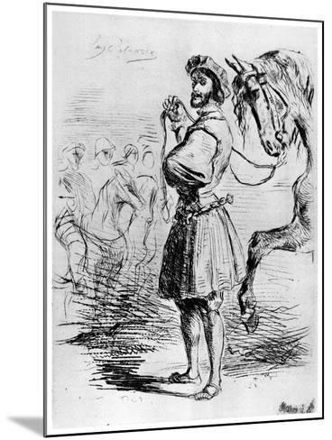 Cavalier Francais, C1820-1860-Eugene Delacroix-Mounted Giclee Print