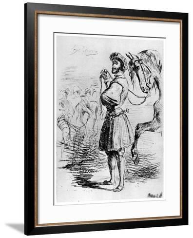 Cavalier Francais, C1820-1860-Eugene Delacroix-Framed Art Print