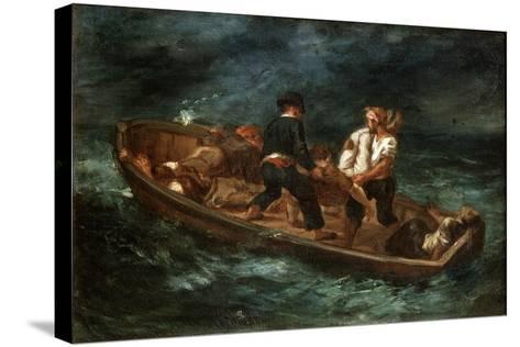 After a Shipwreck, 1847-Eugene Delacroix-Stretched Canvas Print
