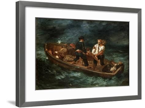 After a Shipwreck, 1847-Eugene Delacroix-Framed Art Print