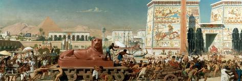Israel in Egypt, 1867-Edward John Poynter-Stretched Canvas Print