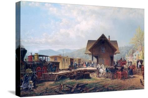 The 9:45 Accommodation, 1867-Edward Lamson Henry-Stretched Canvas Print