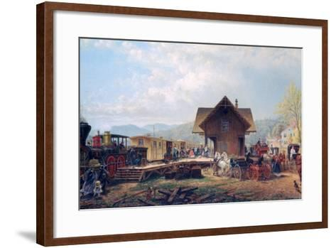 The 9:45 Accommodation, 1867-Edward Lamson Henry-Framed Art Print