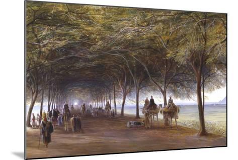 The Road to the Pyramids at Giza, C1873-Edward Lear-Mounted Giclee Print