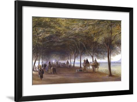The Road to the Pyramids at Giza, C1873-Edward Lear-Framed Art Print