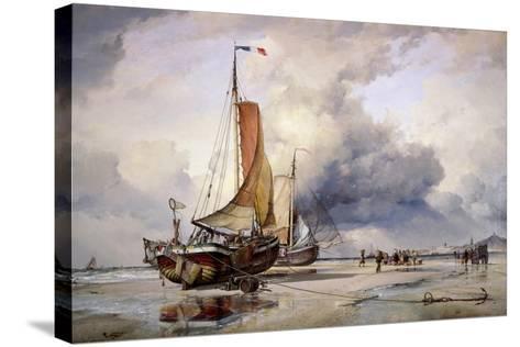 Dutch Pincks at Scheveningen, Holland, 1860-Edward William Cooke-Stretched Canvas Print