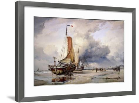 Dutch Pincks at Scheveningen, Holland, 1860-Edward William Cooke-Framed Art Print