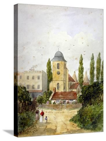 St Pancras Old Church and the Adam and Eve Tavern, London, 1830-EH Dixon-Stretched Canvas Print