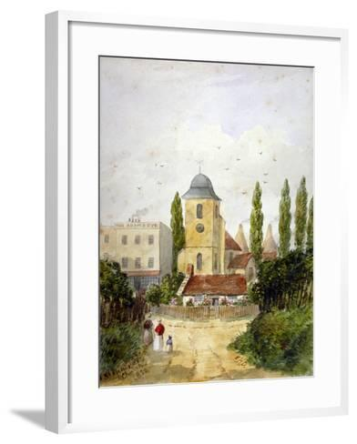 St Pancras Old Church and the Adam and Eve Tavern, London, 1830-EH Dixon-Framed Art Print