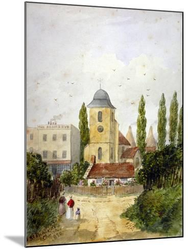 St Pancras Old Church and the Adam and Eve Tavern, London, 1830-EH Dixon-Mounted Giclee Print